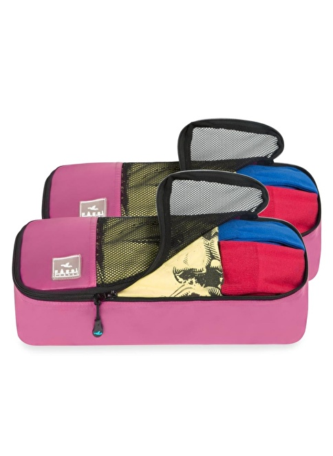Fagel Travel 2Li Slim Set Pembe